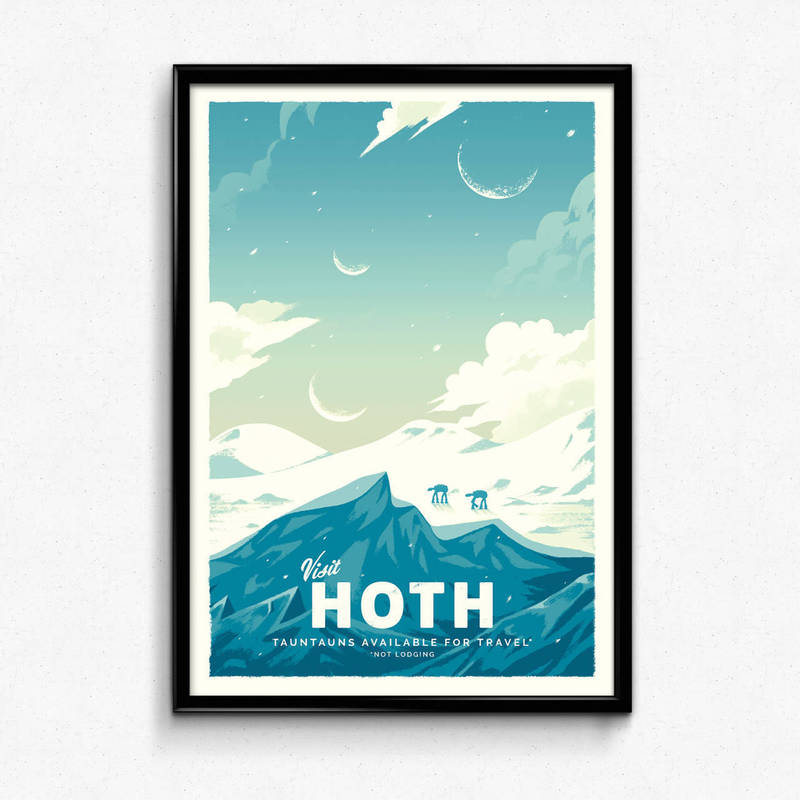 Hoth - Star Wars Retro Travel Poster