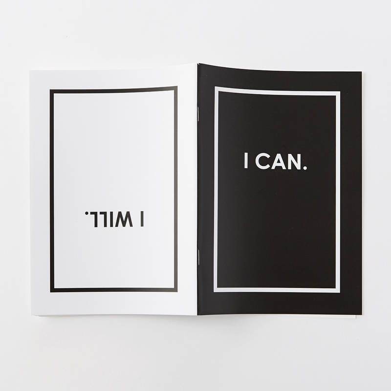 I Can & I Will Double Sided Notebook