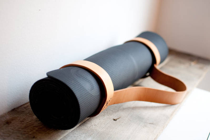 Natural Leather Yoga Mat Sling