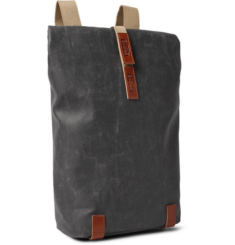 Pickwick Leather-Trimmed Canvas Backpack