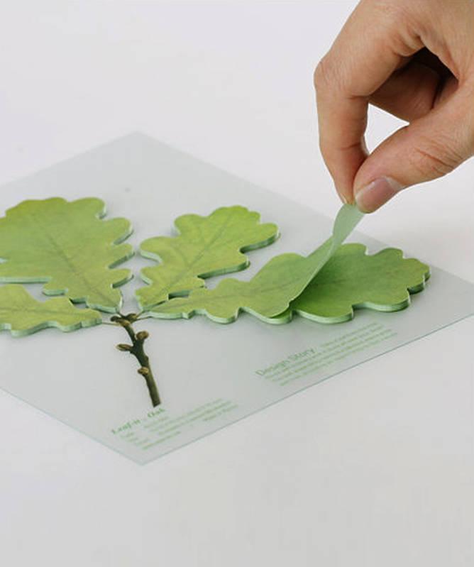 Leaf it Oak sticky notes