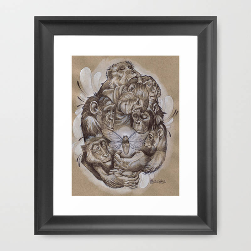 Protecting the Delicate Things Art Print