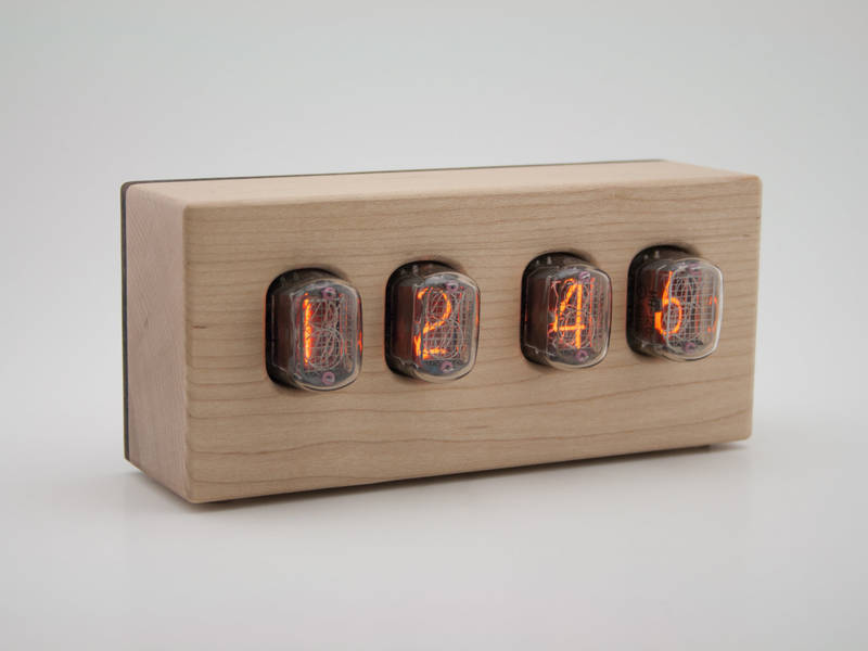 Hardwood Nixie Tube Clock