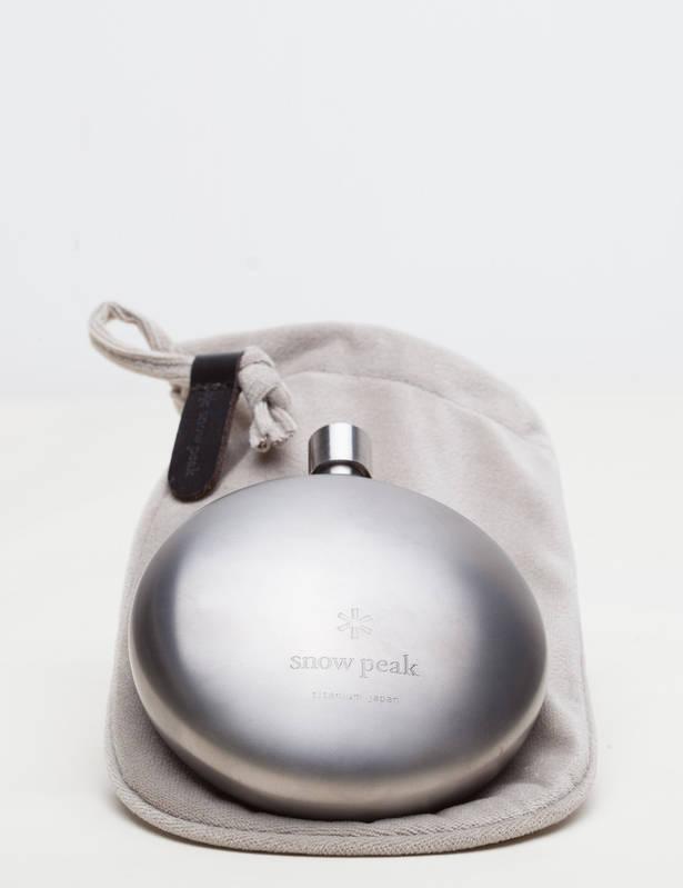 Round Titanium Flask