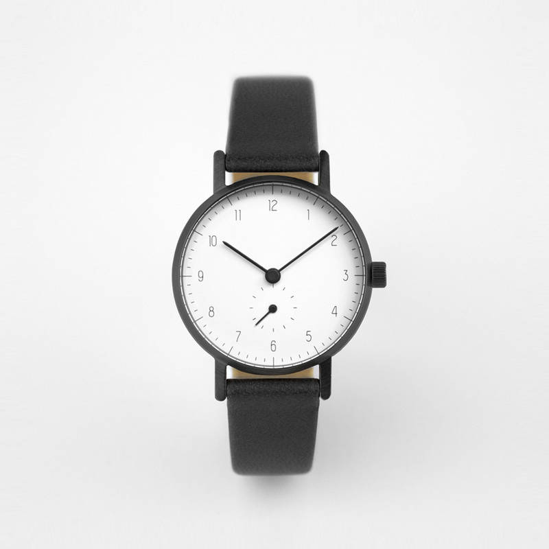 S003W Black and white Stock Watch
