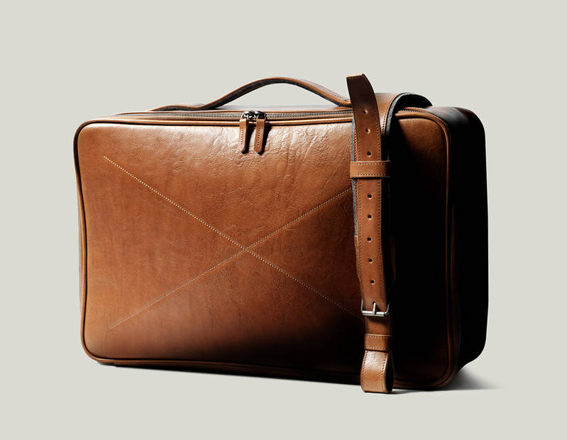Carry On Leather Suitcase