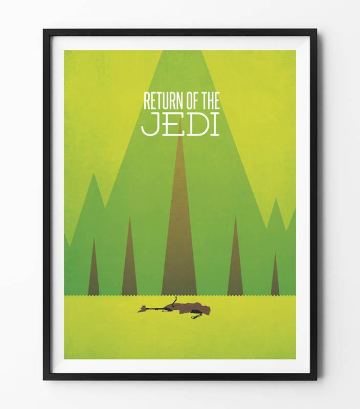 Star Wars Minimalist Poster - Return of the Jedi