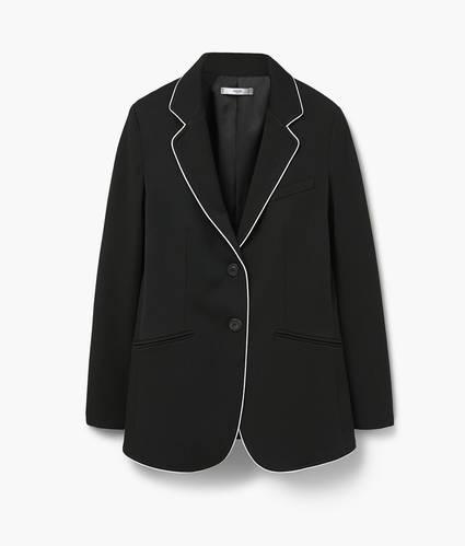 Contrasting trims blazer