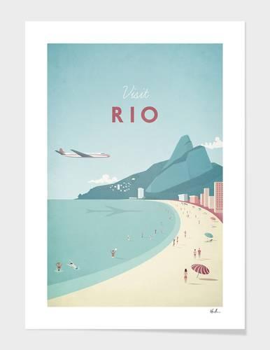 Rio Retro Travel Print