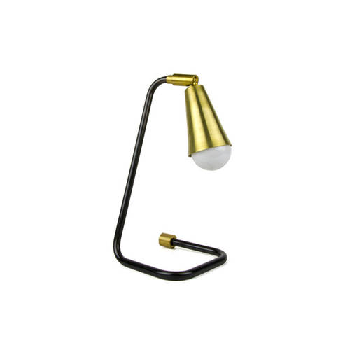 Brass and black Bedside lamp