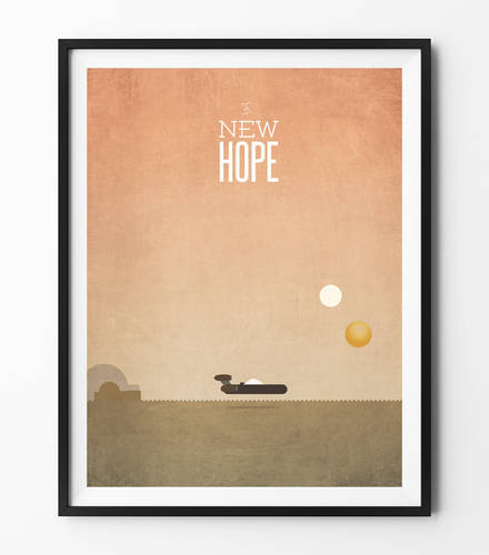 Star Wars Minimalist Poster - A New Hope