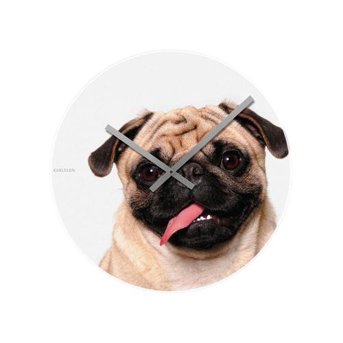 Crazy Pug Wall Clock