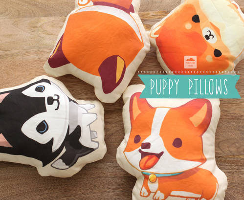 Corgi Puppy Pillow