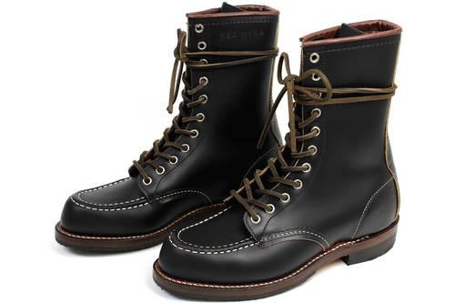 Moc Toe - Black Klondike Boots
