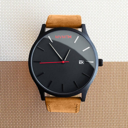 Black / Tan Leather MVMT Watch
