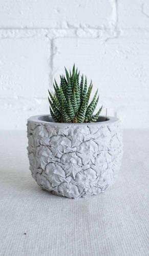 Cast Cement Pineapple Planter