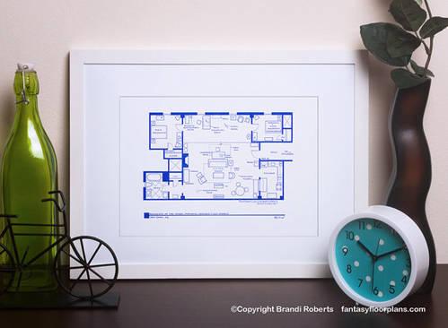 How I Met Your Mother Poster Art - TV Floor Plan