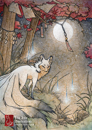 Fox Kitsune Spirit Illustration