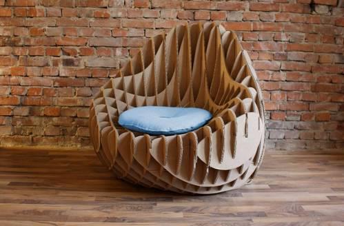 Recycled Cardboard Armchair