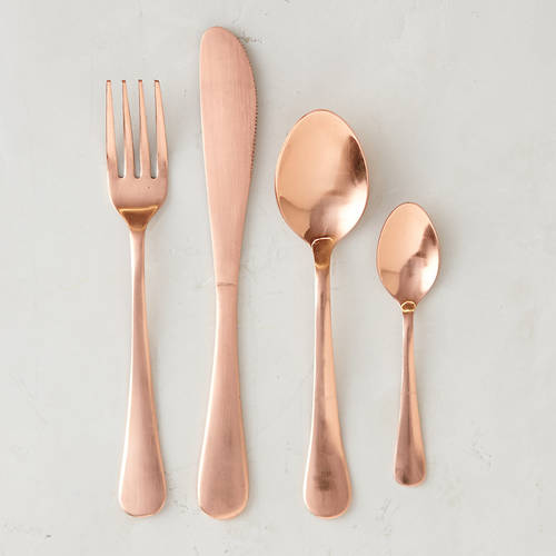 Quartet Copper Flatware Set
