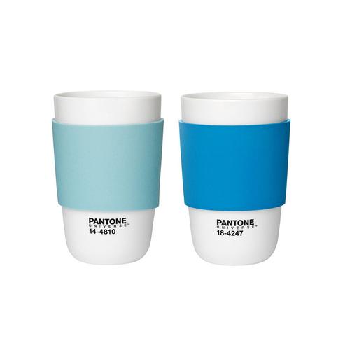Blue Pantone Porcelain Cup Pair
