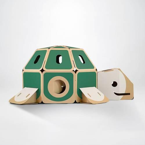 Cardboard Turtle Playhouse