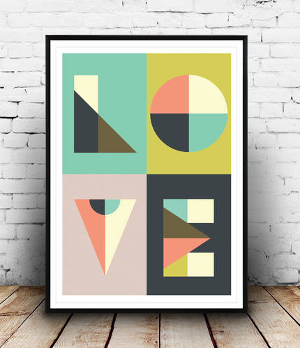 Letter print wall art