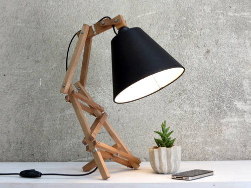 Geometric desk lamp