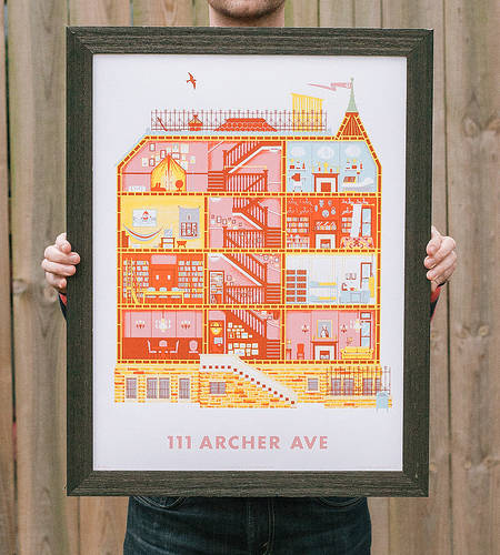 Archer Avenue Diagram Art Print