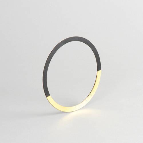 Form Circle Bangle Brass & Midnight