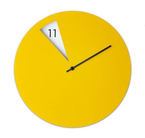 Freakish Clock - Black & Yellow