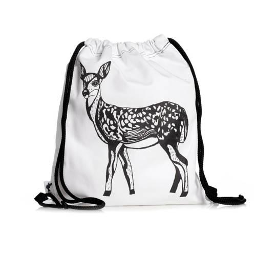 Deer Illustration Drawstring Backpack