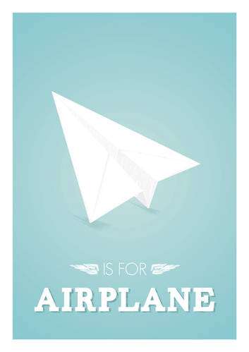 Airplane Alphabet poster