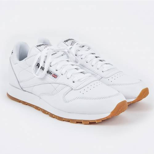 Reebok CL Leather - White/Gum Sneakers