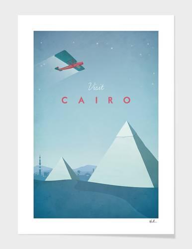 Visit Cairo retro Art Print