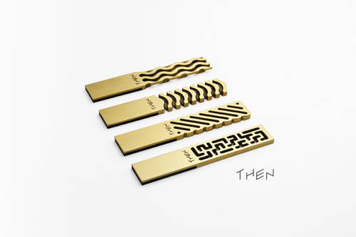 Ultra Slim Brass USB Flash Drive