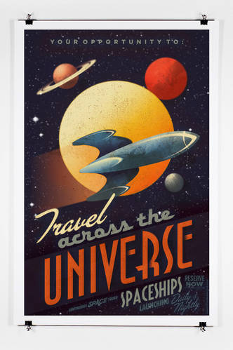 Travel Across The Universe Vintage Poster