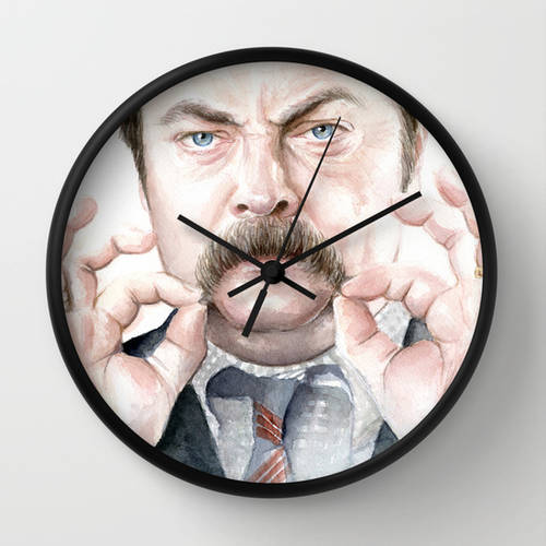 Swanson Mustache Wall Clock