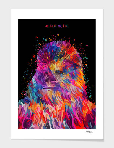 Chewie Abstract art print