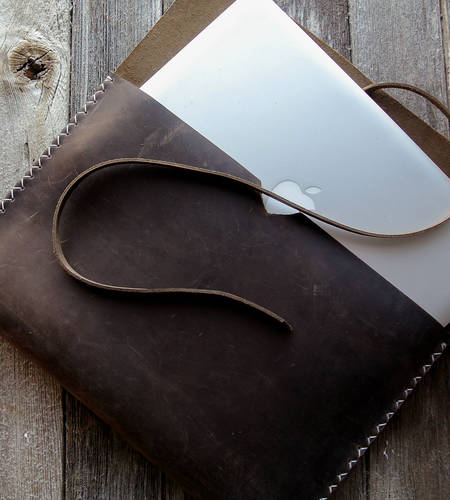 Brown Leather 13'' MacbookPro Case