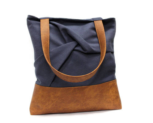 Blue Wrap Tote Bag