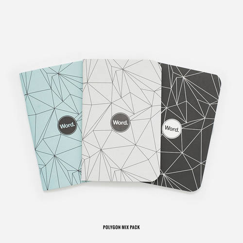 Word. Notebooks (3 Pack)