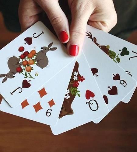 Woodland Plaid Playing Card