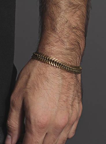 Spine shaped brass bracelet