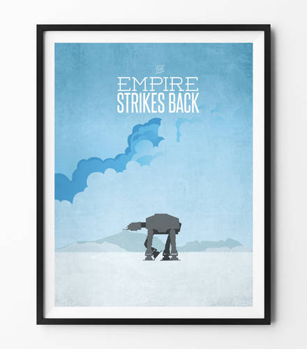 Star Wars Minimalist Poster - Empire Strikes Back