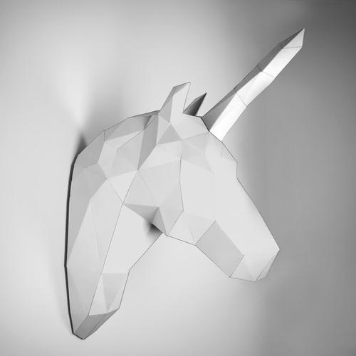 DIY Unicorn Taxidermy White