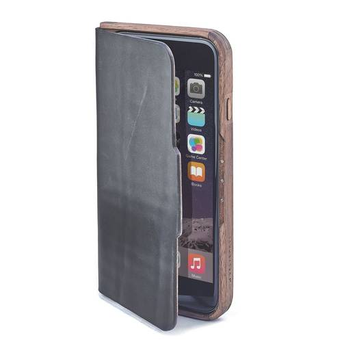 Walnut & Leather iPhone Case