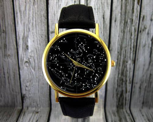 Vintage Constellation Leather Watch