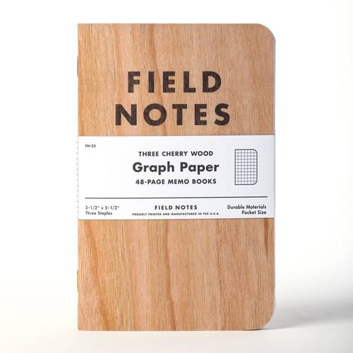 Field Notes Cherry Wood Notebook