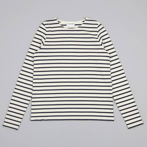 Ganni Striped L/S T-Shirt